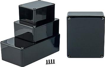 MB1 - Caja de plástico ABS con Tapa, Caja Multiusos, Caja de módulos, (LxAxA) 80 x 62 x 40 mm, con Ranuras para Placas de Circuito (Costillas), Negro: Amazon.es: Electrónica