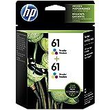 HP 61 Tri-color Original Ink Cartridges, 2 pack (CZ074FN)