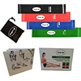 Resistance bands.For best fitness,physical therapy recovery,arms, legs,butt,glutes,knee,yoga,workout, heavy exercise,Crossfit body,flexibility,strength,Pilates,training,and mobility.Band loop set of 4