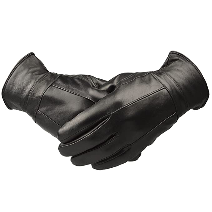 Men's Vintage Christmas Gift Ideas Mens Designer Genuine Leather Touch Screen Thermal Winter Warm Driving Gloves £8.99 AT vintagedancer.com