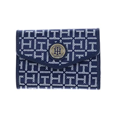 debc97579ff Image Unavailable. Image not available for. Color: Tommy Hilfiger Womens  Envelope Wallet - Navy Blue White
