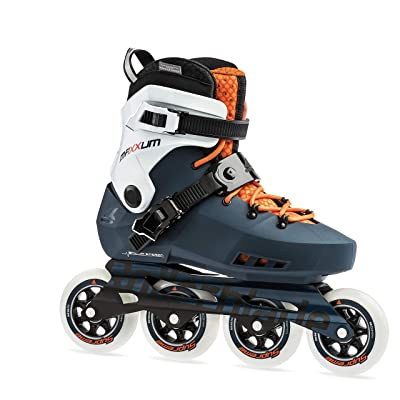 Rollerblade Maxxum Edge 90 Mens Adult Fitness Inline Skate, Sapphire and Orange, Premium Inline Skates : Sports & Outdoors