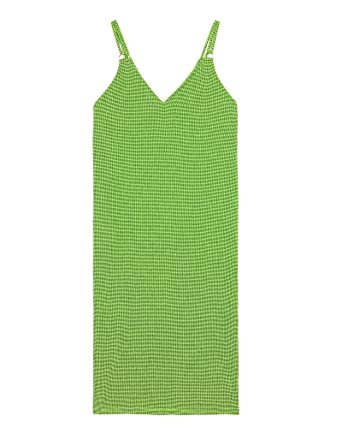 f6ab3cc2 Zara Women Printed Strappy Dress 7345/178 (Medium) Yellow at Amazon ...