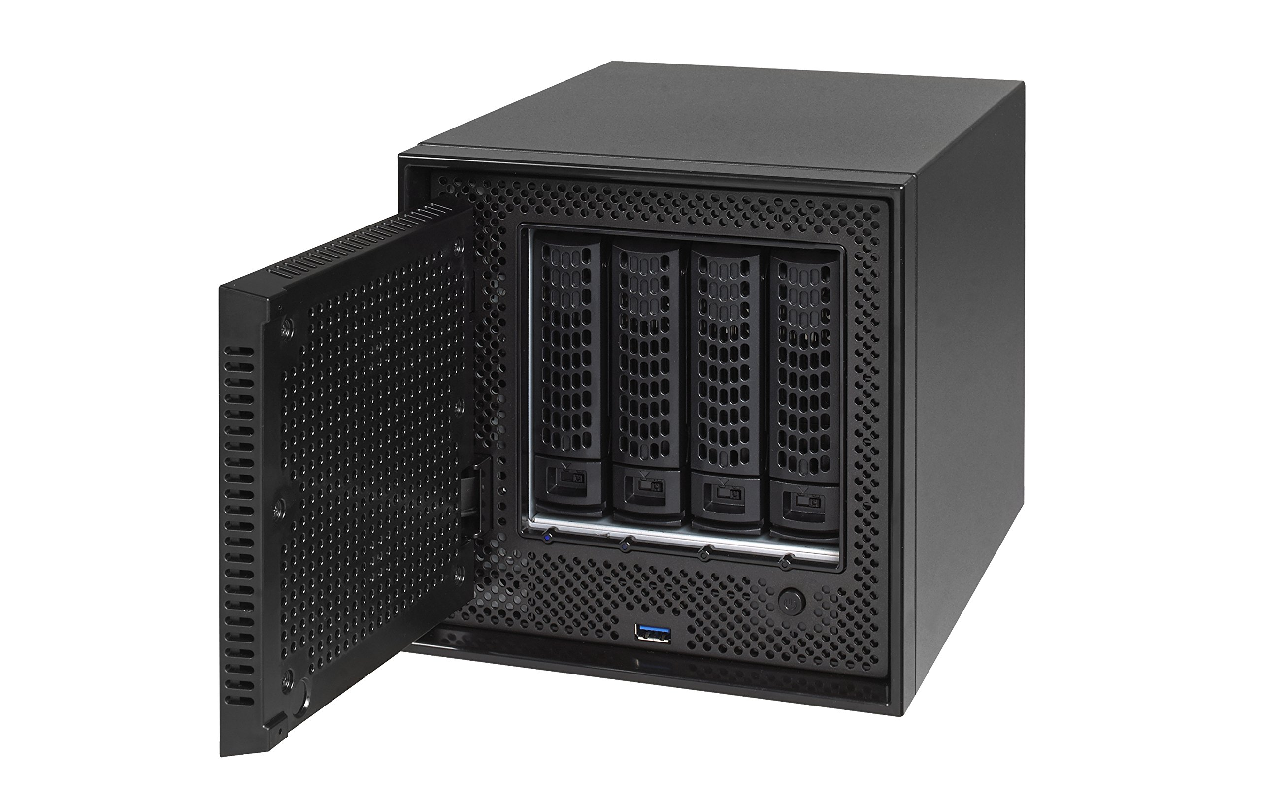NETGEAR ReadyNAS RN524X00 4 Bay Diskless Premium Performance NAS, 40TB Capacity Network Attached Storage, Intel 2.2GHz Dual Core Processor, 4GB RAM 5 PREMIUM PERFORMANCE - Up to 20 gigabit per second data access, powered by a server processor 10G CONNECTIVITY - Utilize your 10G infrastructure for fast data sharing and backup throughput HIGH-PERFORMANCE - Get 2x faster business application processing with the latest 64-bit technology