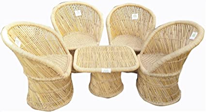 Ecowoodies Outdoor Furniture Set of 4 for Garden/Terrace/Balcony/Lawn