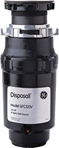 General Electric GFC320N Continuous Feed Disposall, Large capacity, 1/3 horsepower, Black