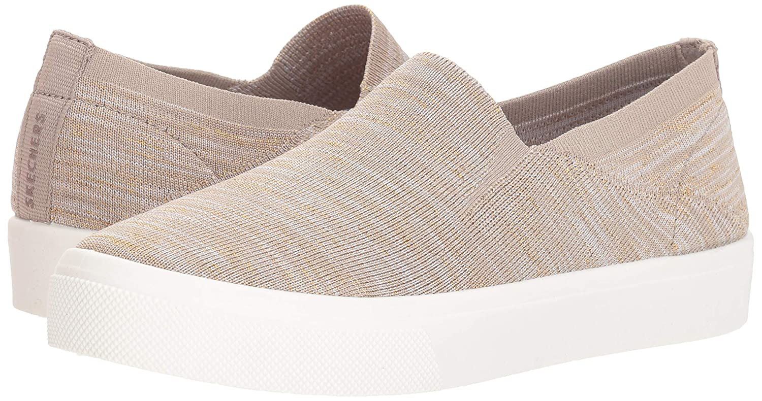 best service 64ff6 74c60 Skechers Women s Poppy - Cloud Dust. Maylar Fleck Knit Slip on Sneaker,    Amazon.co.uk  Shoes   Bags