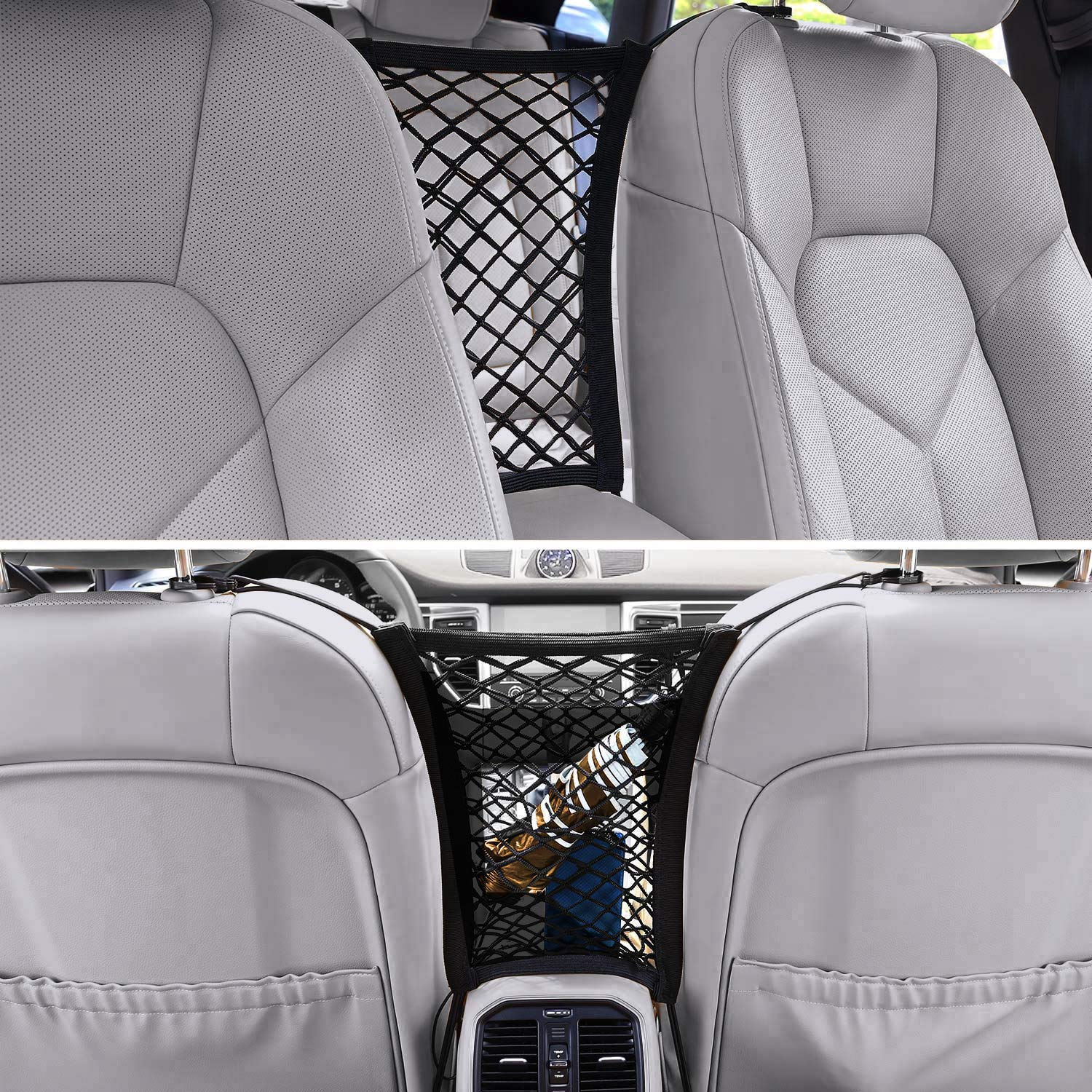 Drive Safe with Children and Pets DriveSound Dog Car Barrier Net Organizer Baby Storage Back Seat Stretchable Front Seat Pet Barrier Sedan SUV Minivan Pickup Truck