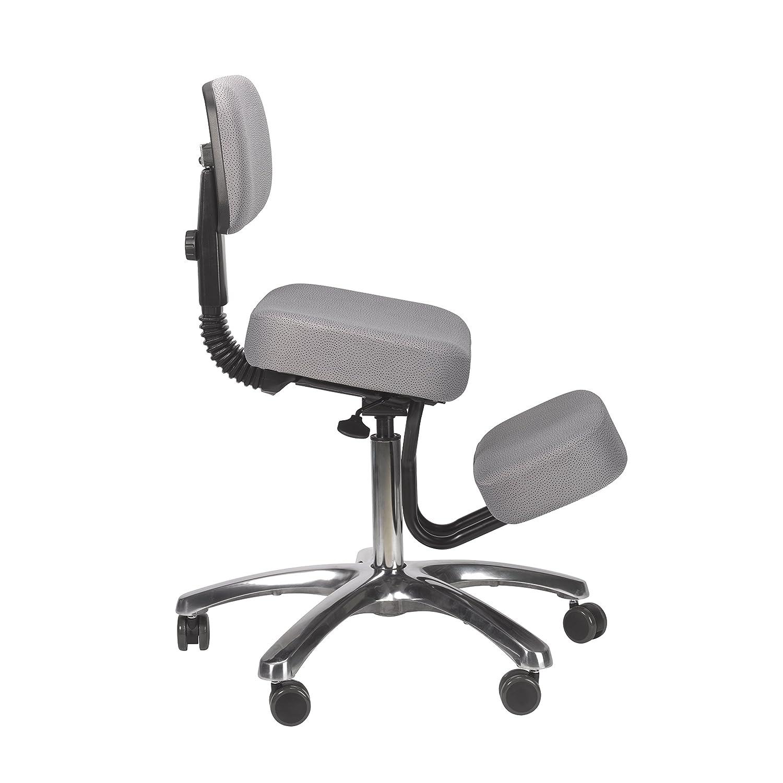 jobri grey jazzy chrome deluxe kneeling chair jobri jazzy kneeling
