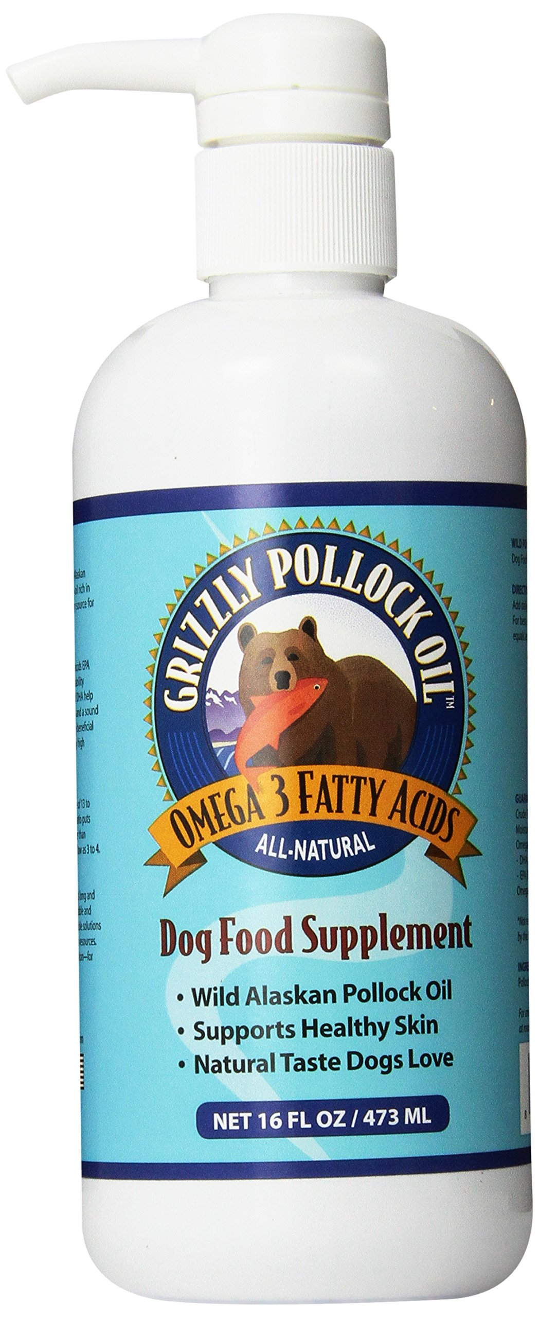Grizzly Pollock Oil Supplement for Dogs, 16-Ounce