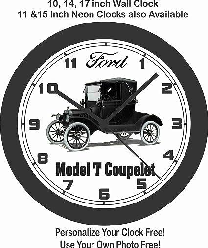 Amazon Com Jims Classic Clocks Ford Model T Coupelet Wall Clock