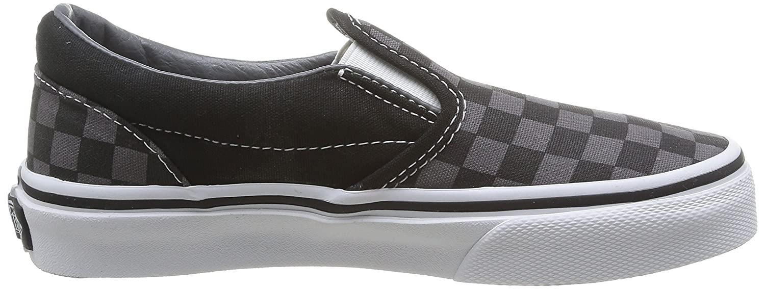 Vans Big) ' Classic Slip-on (Little Big) Vans B072ZQTQB8 10.5 M US Little Kid|(Checkerboard) Black/Pewter 1cb14a