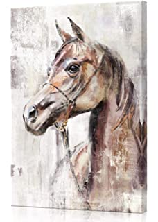 Horse Profile Painting Gym Bag