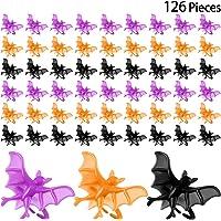Hicarer 126 Piezas Anillos de Murciélago de Halloween