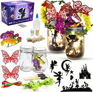 Fairy Lantern Craft Kit for Girls and Boys, Fairy Garden Kit, DIY Fairy Jar Night Lights Craft for Kids