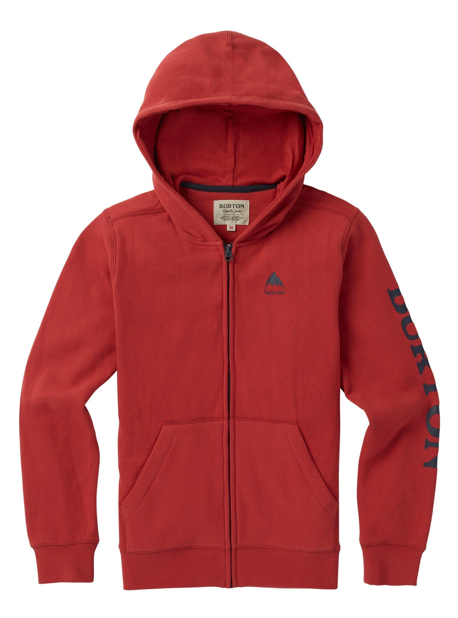 Burton Kids Elite Full Zip Hoodie, Tandoori W19, Small