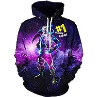 Epic Games Youth Fortnite Halloween Hoodies 3D Print Pullover Hooded Sweatshirts for Boys/Girls/Teen/Kid's