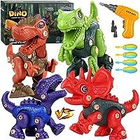 Fivejoy Dinosaurios Juguetes, 118 PCS Construcción Dinosaurio, Puzzle Dinosaurios con Taladro Eléctrico, Juguetes de…