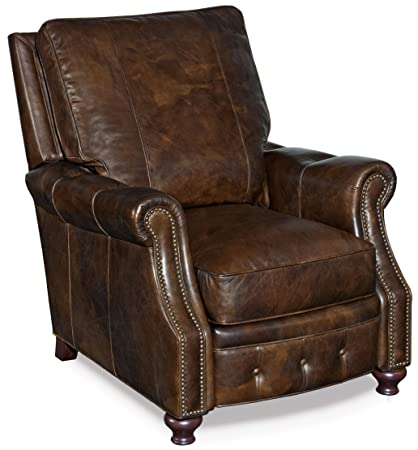 Push Back Style Wingback Leather Recliner for Any Living Room Decor. This Recliner Is Made with an Luxurious Black Leather Upholstery. Traditionally Style and Constructed with a Pine and Plywood Frame
