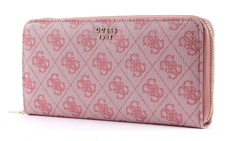 Damen-Geldbörse Portemonnaie Wallet GUESS KATHRYN Large Zip Around Blush