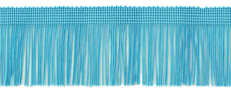 11 Patio valor pack de 2 pulgadas Chainette Fringe Trim, estilo # CF02 color: turquesa –  04 (32.5 pies/10 m) estilo # CF02color: turquesa-04(32.5pies/10m) DecoPro