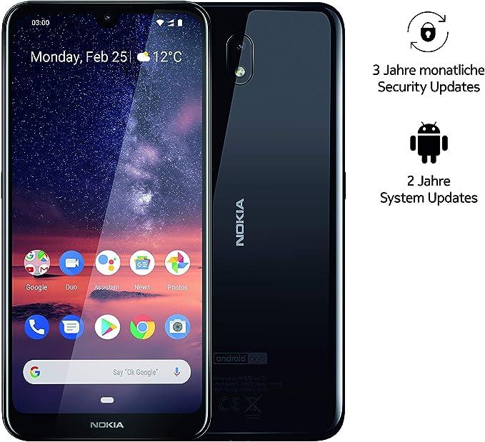 Nokia 3.2 Dual SIM Smartphone - Mercancía alemana (15,9 cm (6,26 pulgadas), cámara principal de 13 MP, 2 GB de RAM, 16 GB de memoria interna, Android 9 Pie) negro: Amazon.es: Electrónica