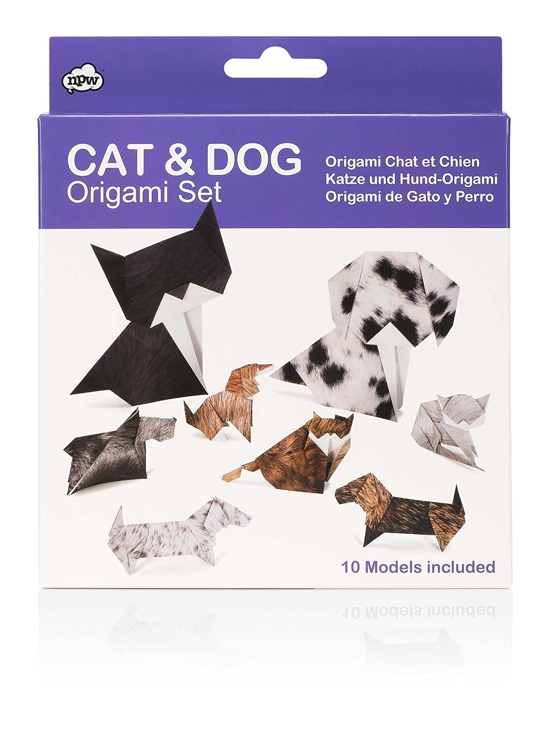 Npw Np32024 Origami Kit Cat Dog Home Kitchen Folding Diagram 1 Of 3 Scottish Terrier Money