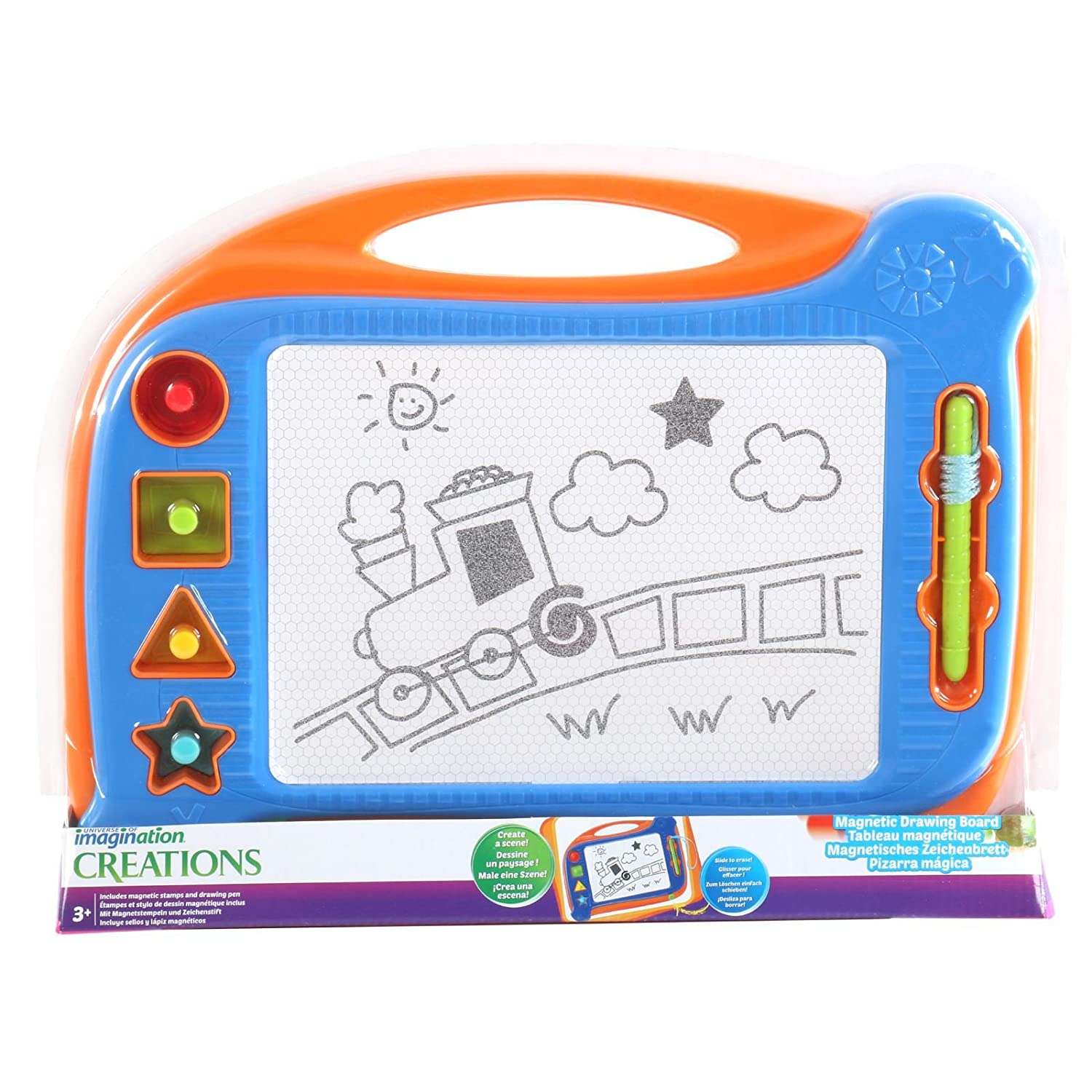 Amazon.com: Imaginarium Magnetic Drawing Board - Blue & Orange: Toys ...