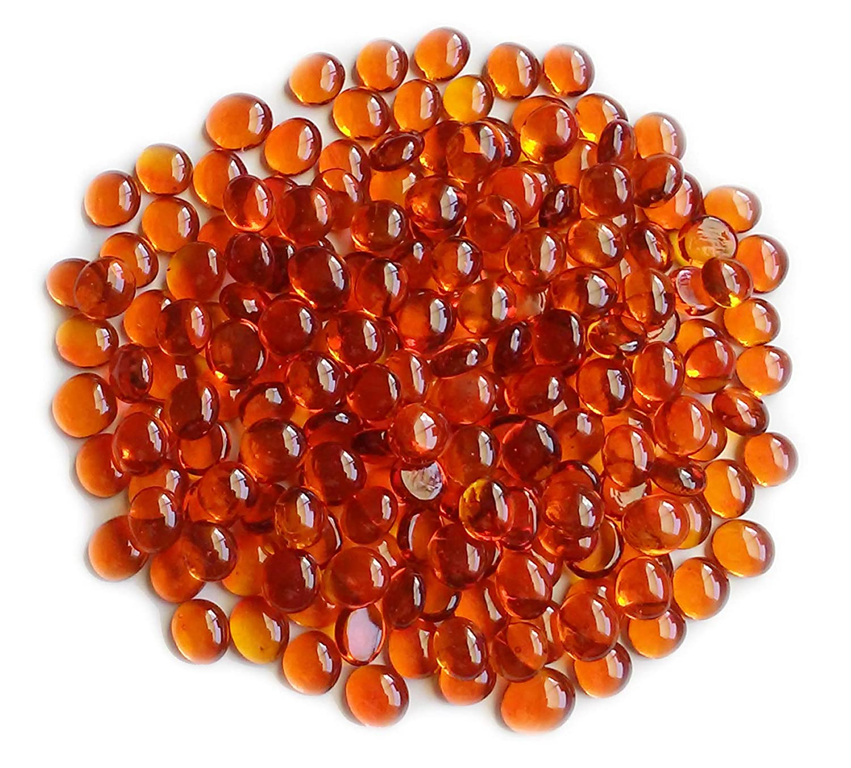 1 LB, Allure Mix, Opal Black /& Orange Vase Fillers Glass Gems Creative Stuff Glass