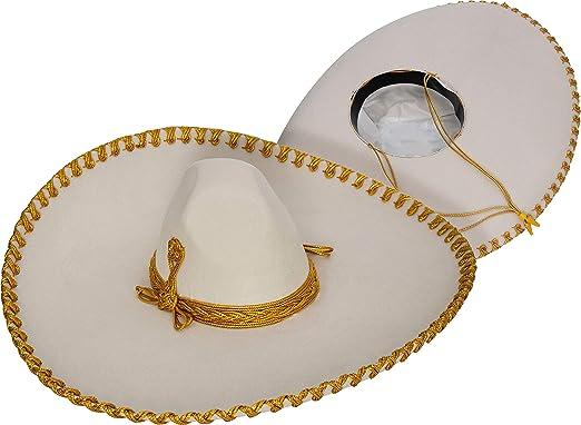 f8169cebe1ad3 Genuine Made in Mexico Sombrero Adult Fancy Mariachi Sombrero Charro Hat