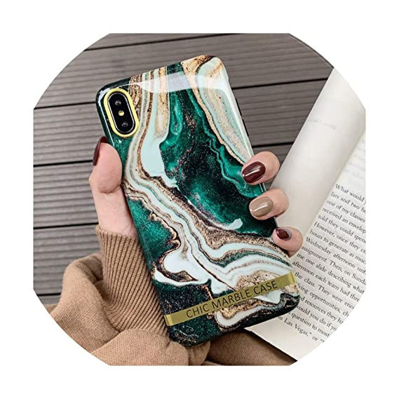 new product 33899 e311b Amazon.com: Artistic Agate Marble Gold Bar Phone Case for iPhone Xs ...