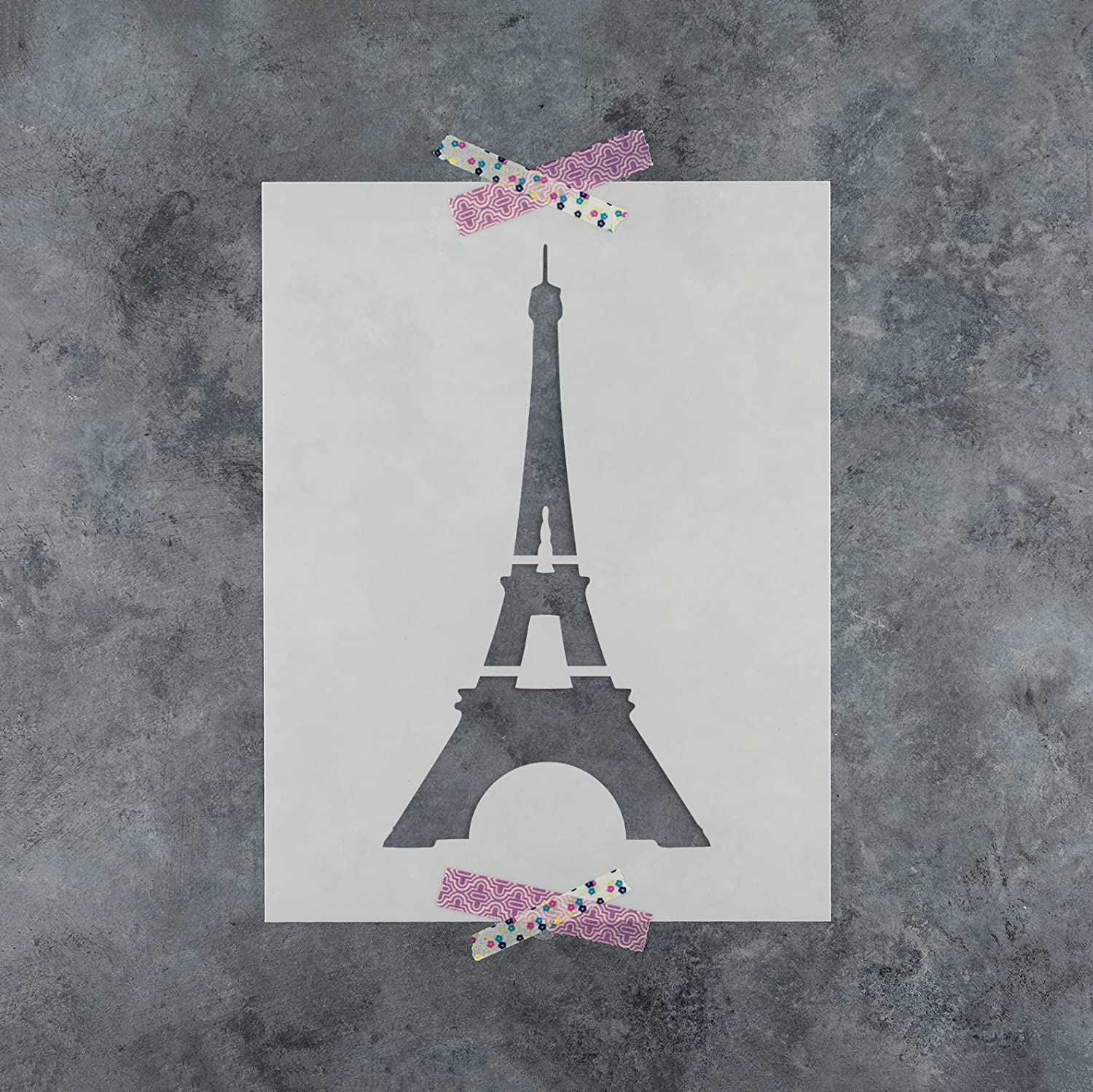 Amazon Com Eiffel Tower Stencil Template Reusable Stencil With