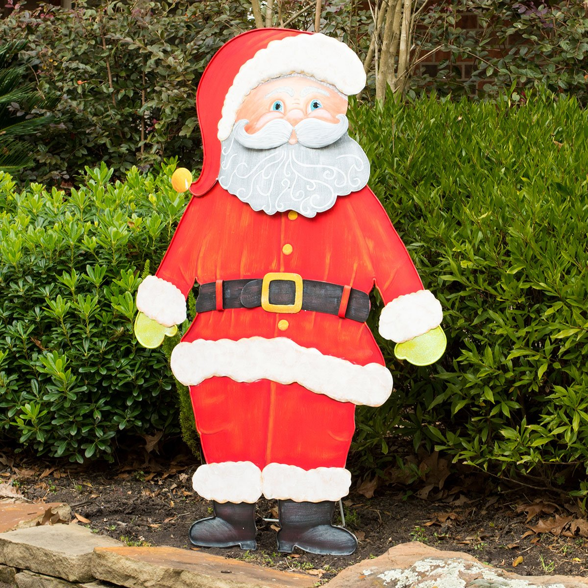 Big Jolly Santa Outdoor Christmas Yard and Porch Decoration by The Great Heron