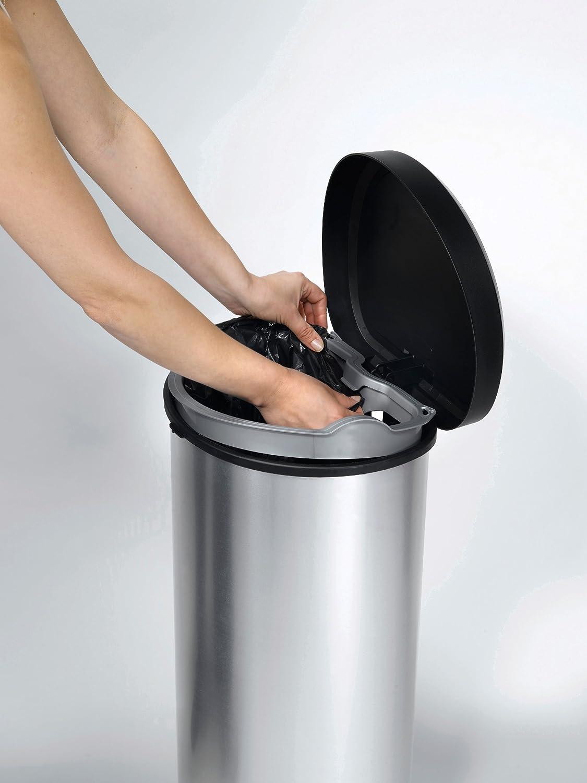 Curver Cubo de basura con pedal 40L, Metal, 27.8x32.9x67.7 cm, 181125