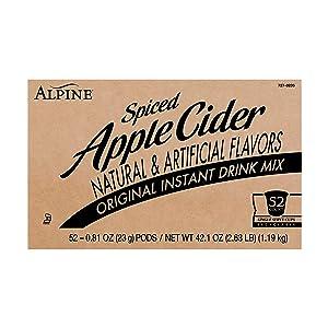 Alpine Original Spiced Apple Cider Single Serve Cups, Apple Original, 52 Count (Pack of 1)