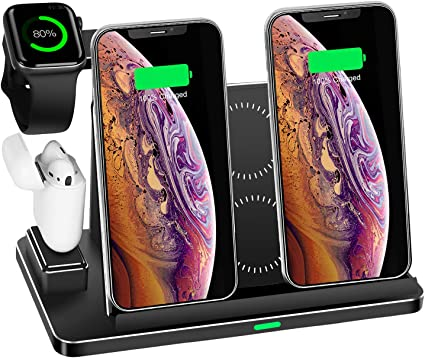 Zapuno Wireless Charging Station 8 In 1 Aluminum Alloy Cnc Wireless Charger Stand 20w Wireless Fast Charger Dock With 45w Pd Charger Compatible For Iphone Ipad Apple Watch Airpods And More Electronics Amazon Com