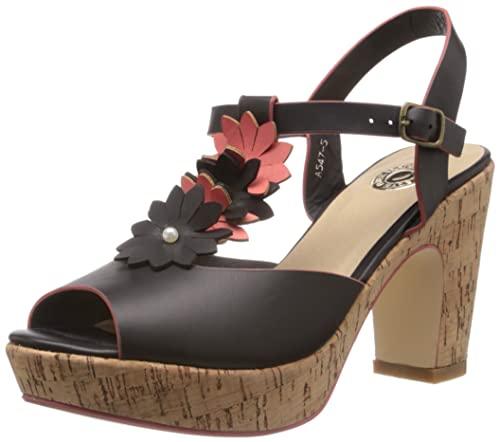79f4b2c57edd Cobblerz Women s Black Fashion Sandals - 6.5 UK 40 EU (PSA547-5)  Buy  Online at Low Prices in India - Amazon.in