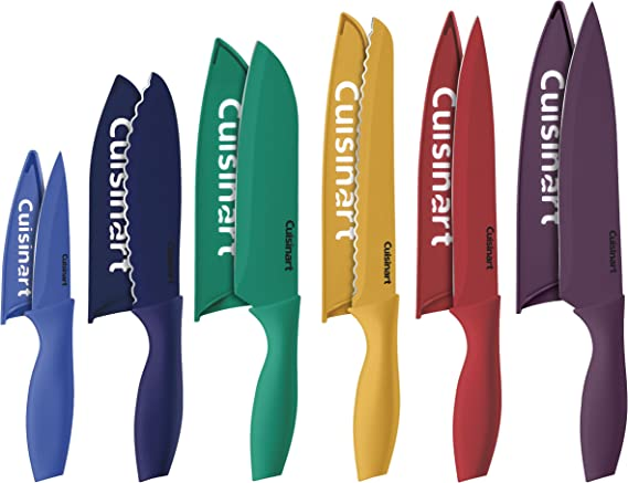 Cuisinart C55-12PCKSAM 12 Piece Color Knife Set with Blade Guards (6 knives and 6 knife covers)