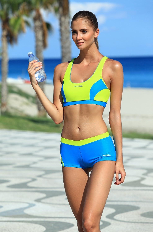 Resistente al Cloro//Crema Solare//Olio Aqua Speed/® Fiona Tankini Colore:19 // Black Pink Taglia:38 Tessuto Vita