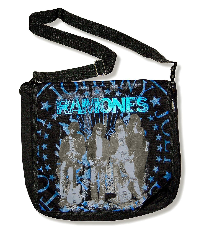 Ramones Band Photo Black Canvas Expandable Messenger Bag