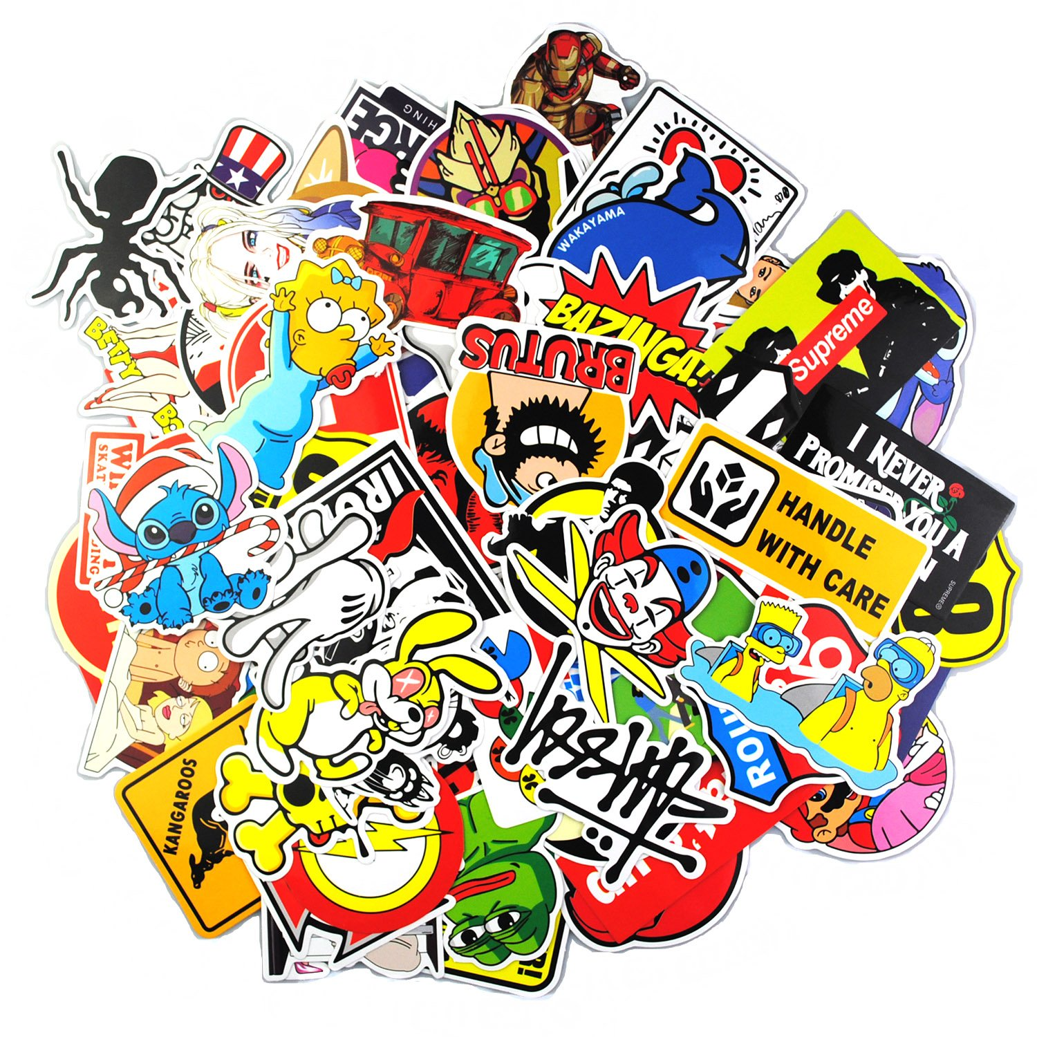 Sticker Pack [200pcs],Sanmatic Sticker Decals Vinyls for Laptop,Kids,Teachers,Cars,Motorcycle,Bicycle,Skateboard Luggage,Bumper Stickers Decals bomb Waterproof