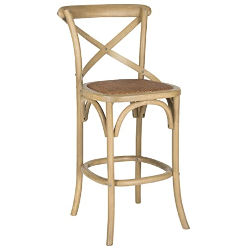 Safavieh American Homes Collection Franklin Weathered Oak 30.7-inch Bar Stool