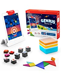 Osmo - Genius Starter Kit for iPad - 5 Hands-On Learning Games - Ages 6-10 - Problem Solving & Creativity - STEM -