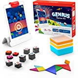 Osmo - Genius Starter Kit for iPad - 5 Hands-On Learning Games - Ages 6-10 - Math, Spelling, Problem Solving, Creativity & More - (Osmo iPad Base Included)