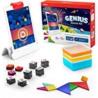 Osmo 901-00011 Genius Starter Kit for iPad- 5 Hands-On Learning Games- Ages 6-10- Math, Spelling, Problem Solving…