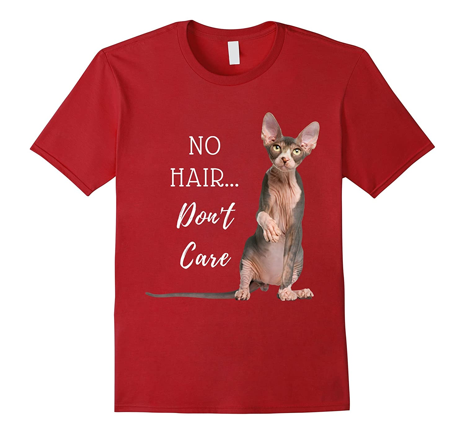 No Hair Don't Care Hairless Cat T Shirt (Sphynx Kitten)-AZP