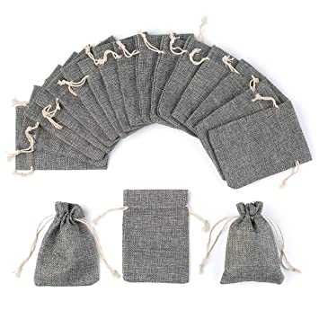 Amazon.com: Yuxier - Bolsas de arpillera con cordón para ...