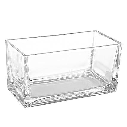 Amazon 75 Inch Modern Rectangular Clear Glass Trough Vase