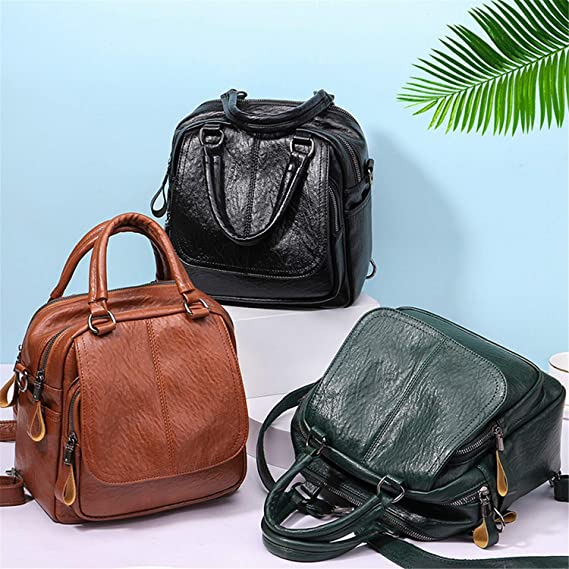 Amazon.com: Backpack Gomfe Fashion Women Backpack Youth Leather Backpacks for Teenage Girl Female School Shoulder Bag 52Sep.30: Computers & Accessories