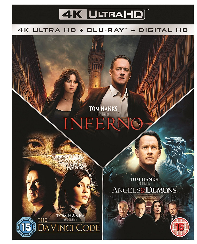 Inferno / Angels & Demons / The Da Vinci Code Box Set - [4k Ultra HD] [Blu-ray]
